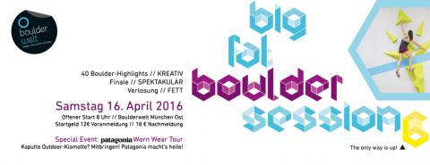 Banner zur Big Fat Boulder Session 6 - 2016