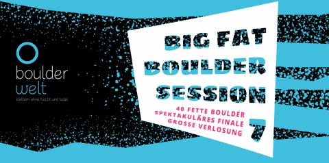Big Fat Boulder Session 2017 - Veranstaltungsbanner