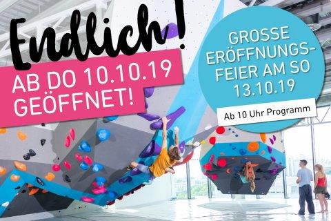 Finaler Eröffnungstermin der neuen Boulderwelt München Ost am 10.10.19