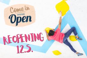 Reopening Boulderwelt München Ost S12.5.21 nach Lockdown