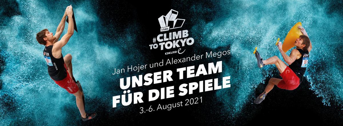 Olympia 2021 - Klettern vom 3. bis 6. August mit Alex Megos und Jan Hojer