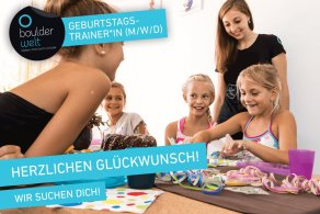 Die Boulderwelt München Süd sucht Geburtstagstrainer