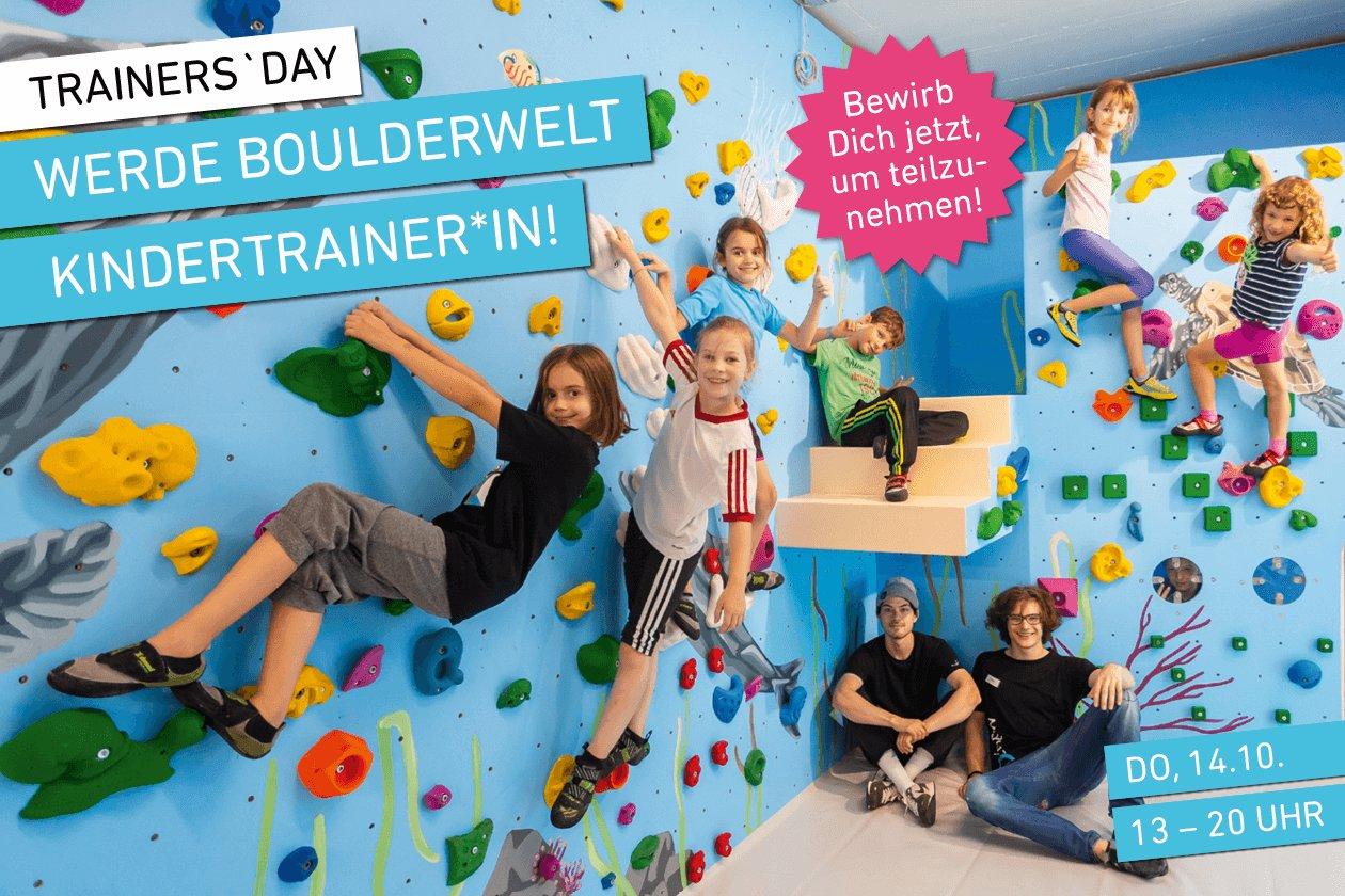 Trainer's Day in der Boulderwelt München Ost am 14.10. - Werde Boulderwelt Kindertrainer*in