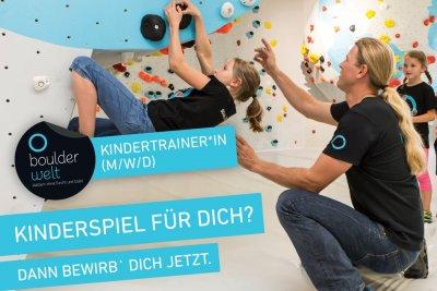 Die Boulderwelt München Ost sucht Kindertrainer