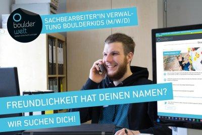 Boulderwelt München Ost sucht einen Sachbearbeiter Verwaltung Boulderkids